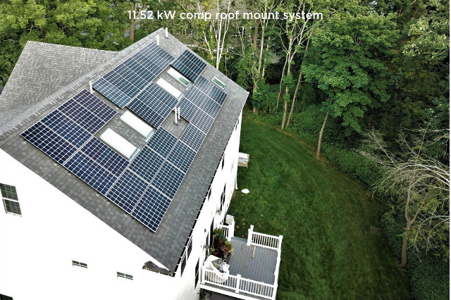 12.52 kW comp roof mount system