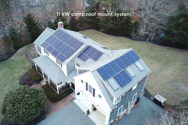 11 kW comp roof mount system