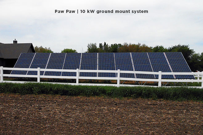 Paw Paw | 10 kW ground mount system