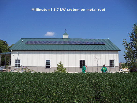 Millington | 3.7 kW system on metal roof