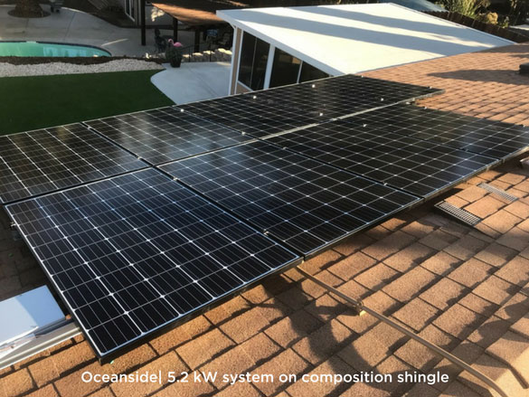 Oceanside | 5.2 kW system on composition shingle