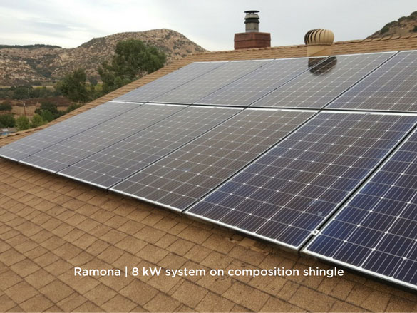 Ramona | 8 kW system on composition shingle