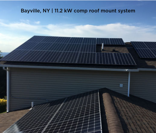 Bayville, NY | 11.2 kW comp roof mount system