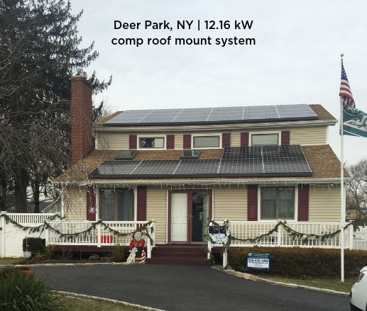 Deer Park, NY | 12.16 kW comp roof mount system