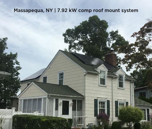 Massapequa, NY | 7.92 kW comp roof mount system