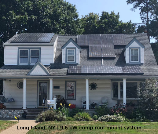 Long Island, NY | 9.6 kW comp roof mount system