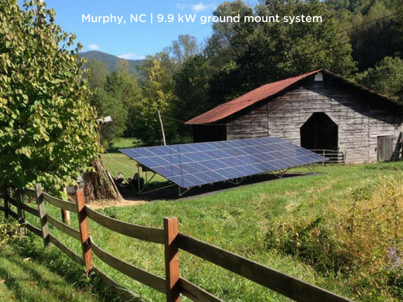 Murphy, NC | 9.9 kW ground mount system