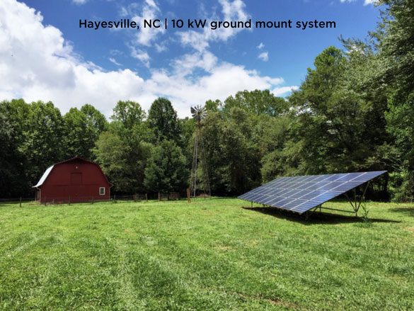 Hayesville, NC | 10kW ground mount system