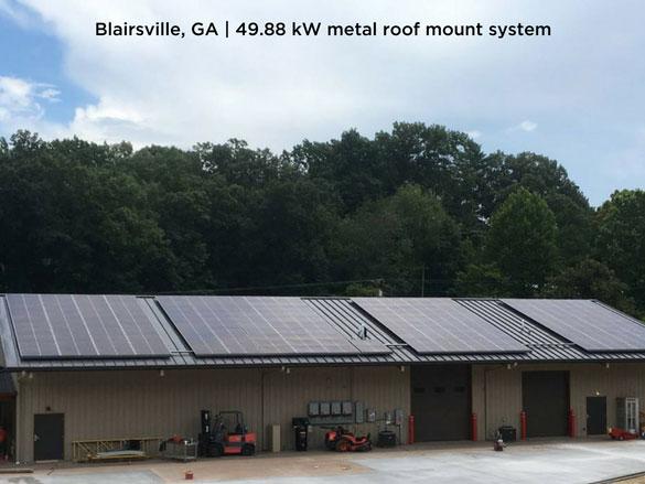 Blairsville, GA | 49.88 kW metal roof mount system