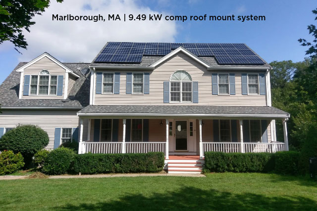 Marlborough, MA | 9.49 kW comp roof mount system