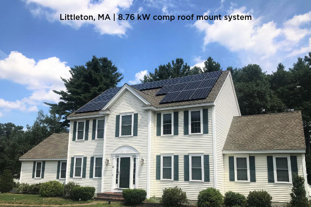 Littleton, MA | 8.76 kW comp roof mount system