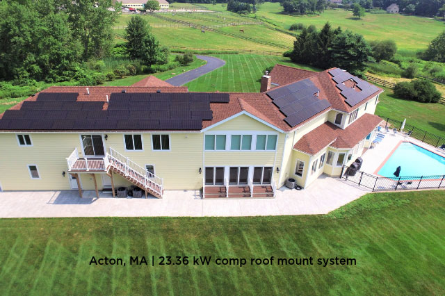 Acton, MA | 23.36 kW comp roof mount system