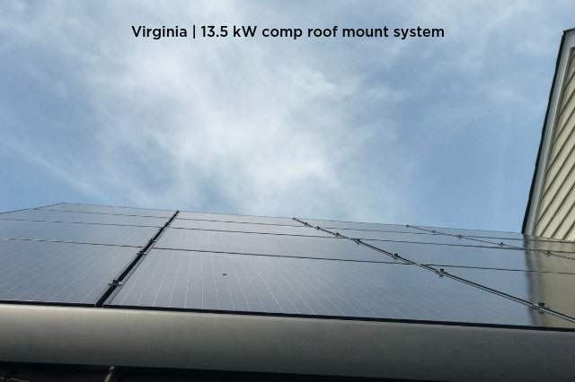 Virginia | 13.5 kW comp roof mount system