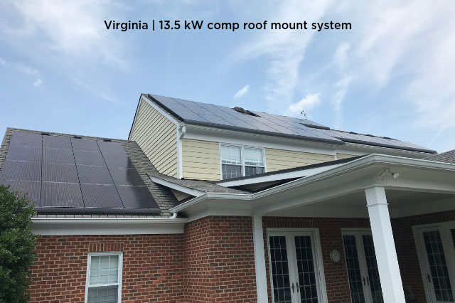 Virginia | 13.5kW comp roof mount system