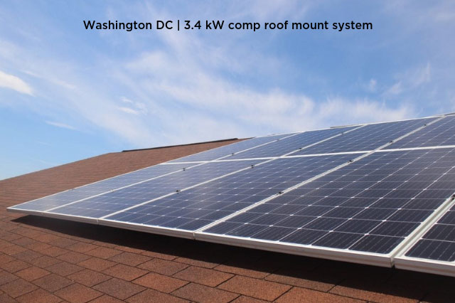 Washington DC | 3.4 kW comp roof mount system
