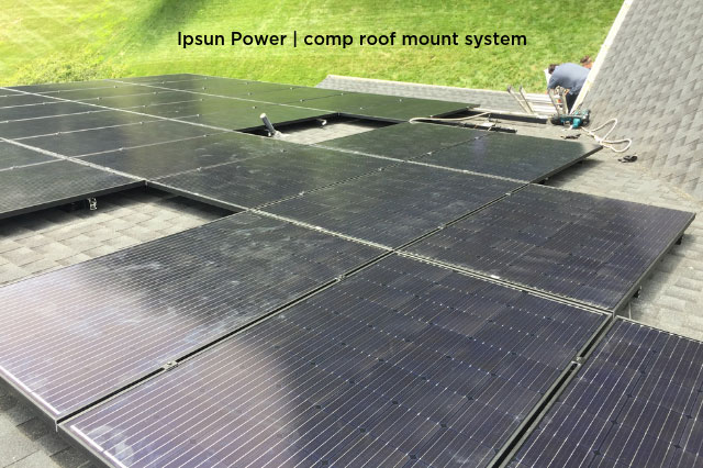 Ipsun Power | comp roof mount system