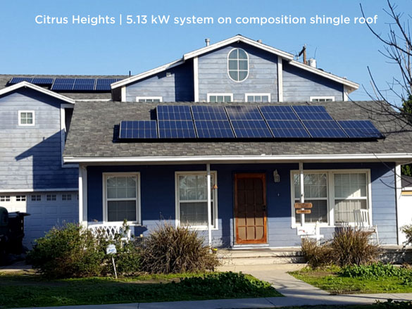 Citrus Heights | 5.13 kW system on composition shingle roof