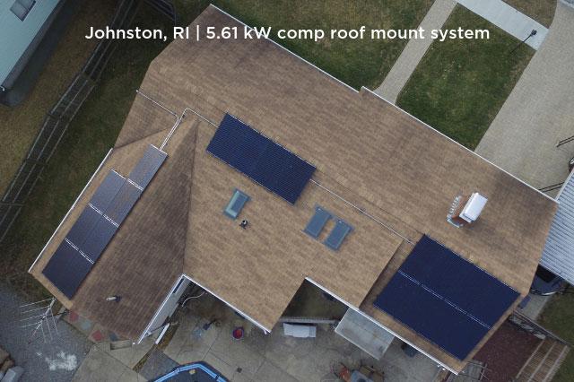 Joshnton, RI | 5.61 kW comp roof mount system