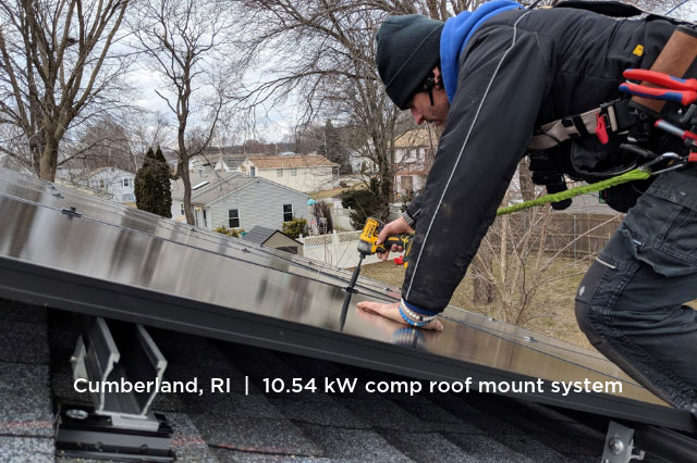 Cumberland, RI | 10.54 kW comp roof mount system