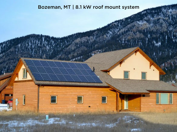Bozeman, MT | 8.1 kW roof mount system