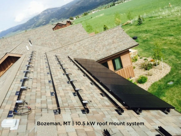 Bozeman, MT | 10.5 kW roof mount system