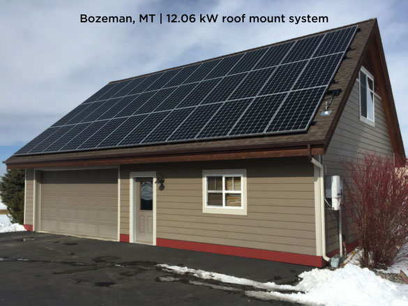 Bozeman, MT | 12.06 kW roof mount system
