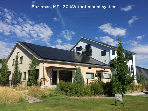 Bozeman, MT | 30 kW roof mount system
