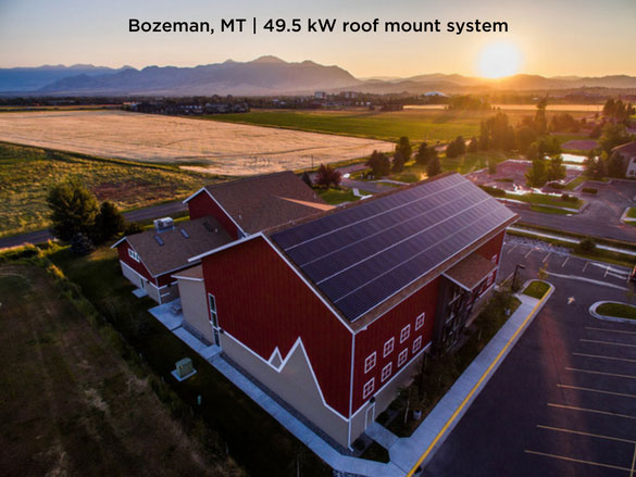 Bozeman, MT | 49.5 kW roof mount system