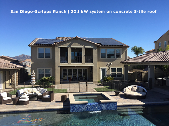 San Diego-Scripps Ranch | 20.1 kW system on concrete S-tile roof
