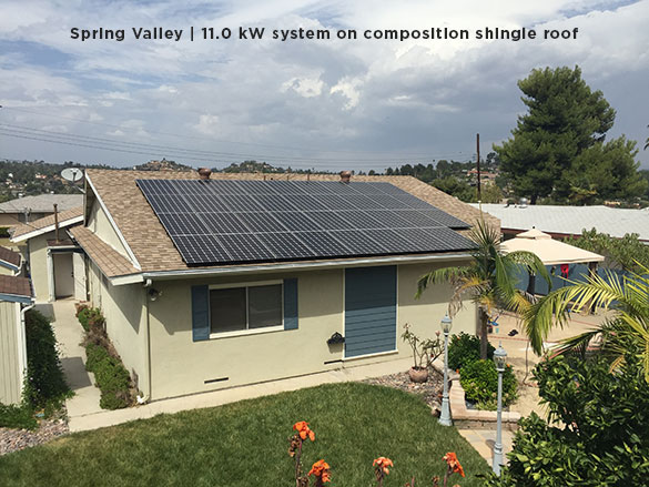 Spring Valley | 11.0 kW system on composition shingle roof