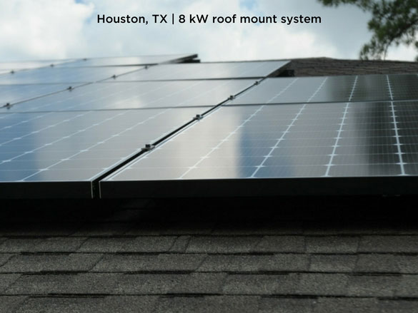 Houston, TX | 8 kW roof mount system