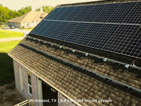 Richmond, TX | 9.9 kW roof mount system