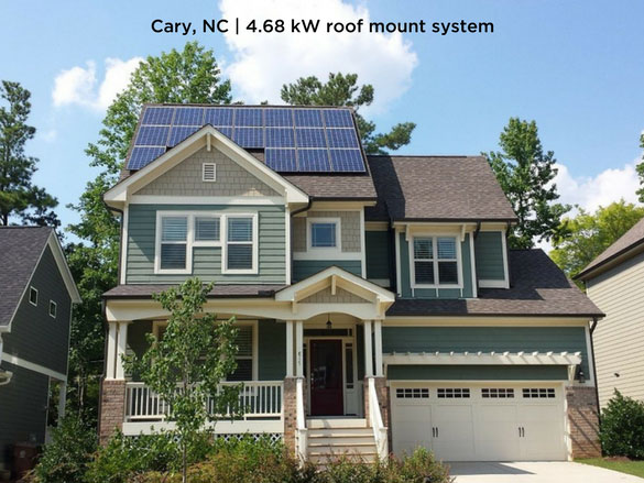 Cary, NC | 4.68 kW roof mount system