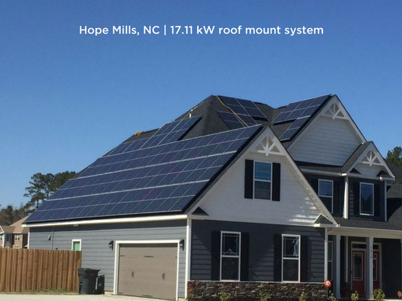 Hope Mills, NC | 17.11 kW roof mount system