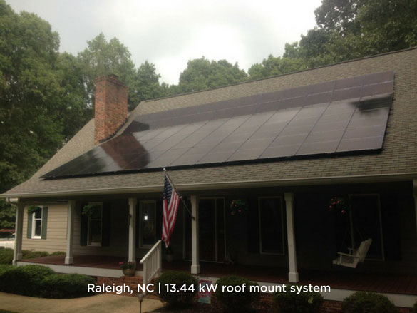 Raleigh, NC | 13.44 kW roof mount system